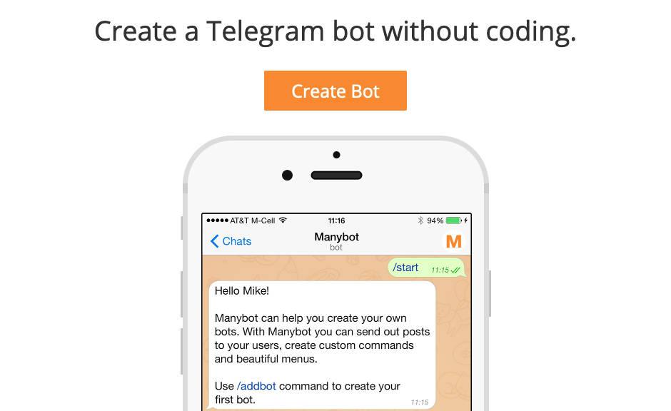 Configura bots para Telegram con Manybot