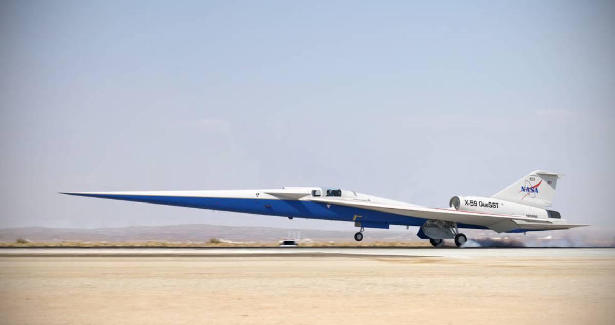 Avanzan preparativos del avión supersónico X-59