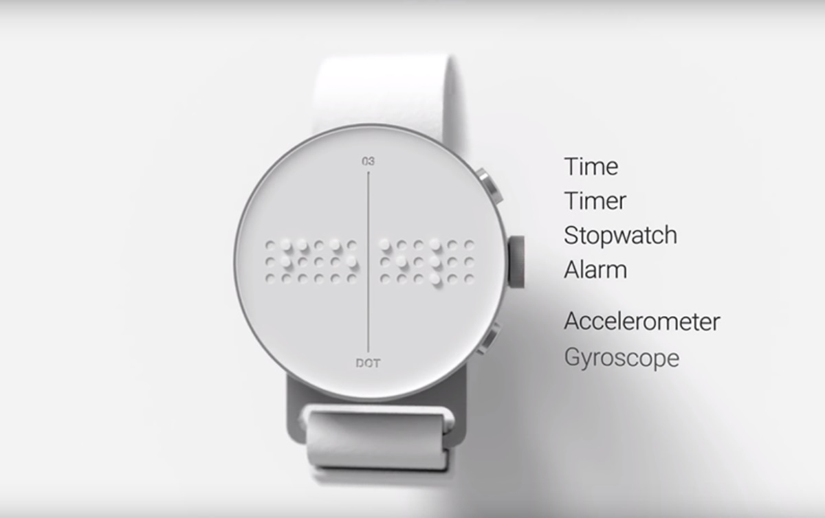 Dot Smartwatch: El reloj inteligente Braille para personas con discapacidad visual