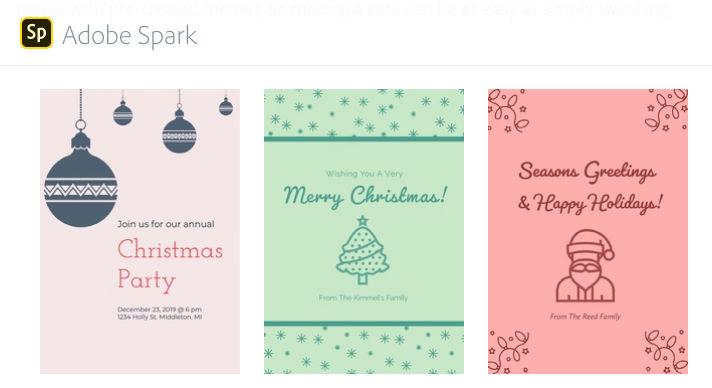 Adobe Spark postales navidad