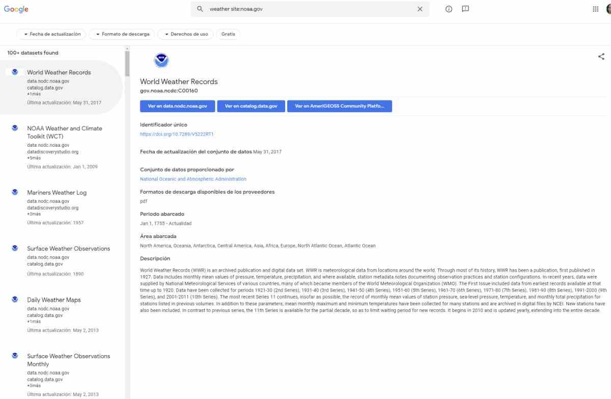 Dataset Search, buscador de conjuntos de datos en la web, sale de la beta con novedades