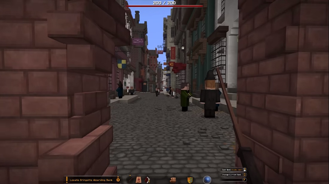 El mod de Minecraft que te permite entrar a Hogwarts y al mundo de Harry Potter