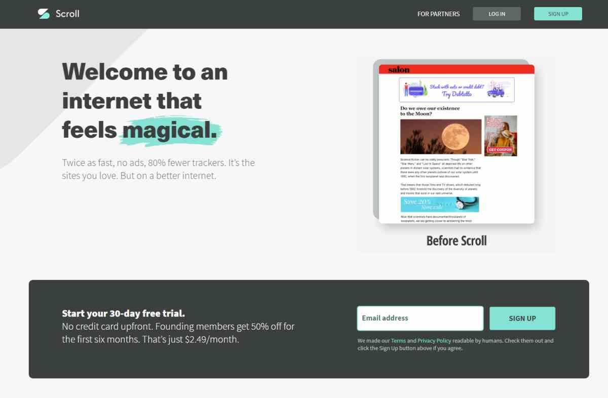 Scroll lanza su plataforma por suscripción con unos 300 sitios web de noticias asociados