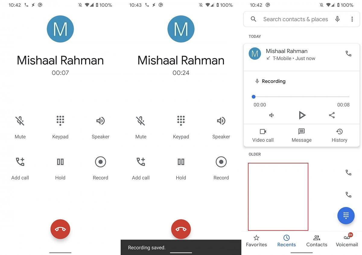 Google trabaja para llevar una función nativa de grabación de llamadas a la app Teléfono