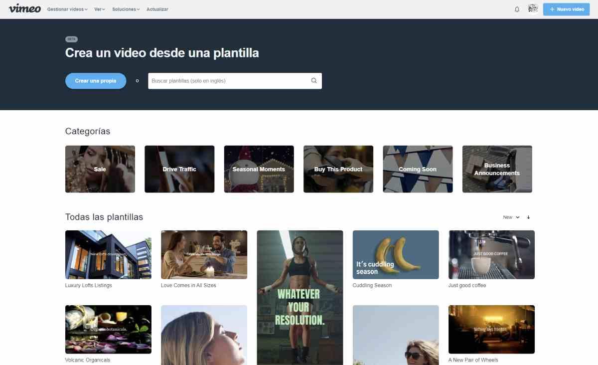 Llega Vimeo Create, una sencilla plataforma de creación y distribución de vídeos de corta duración