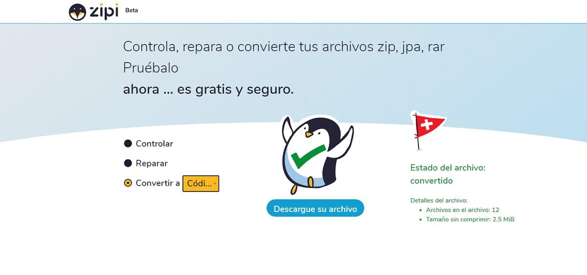 Zipi-tools, plataforma gratuita para reparar, convertir y gestionar archivos de diferentes formatos