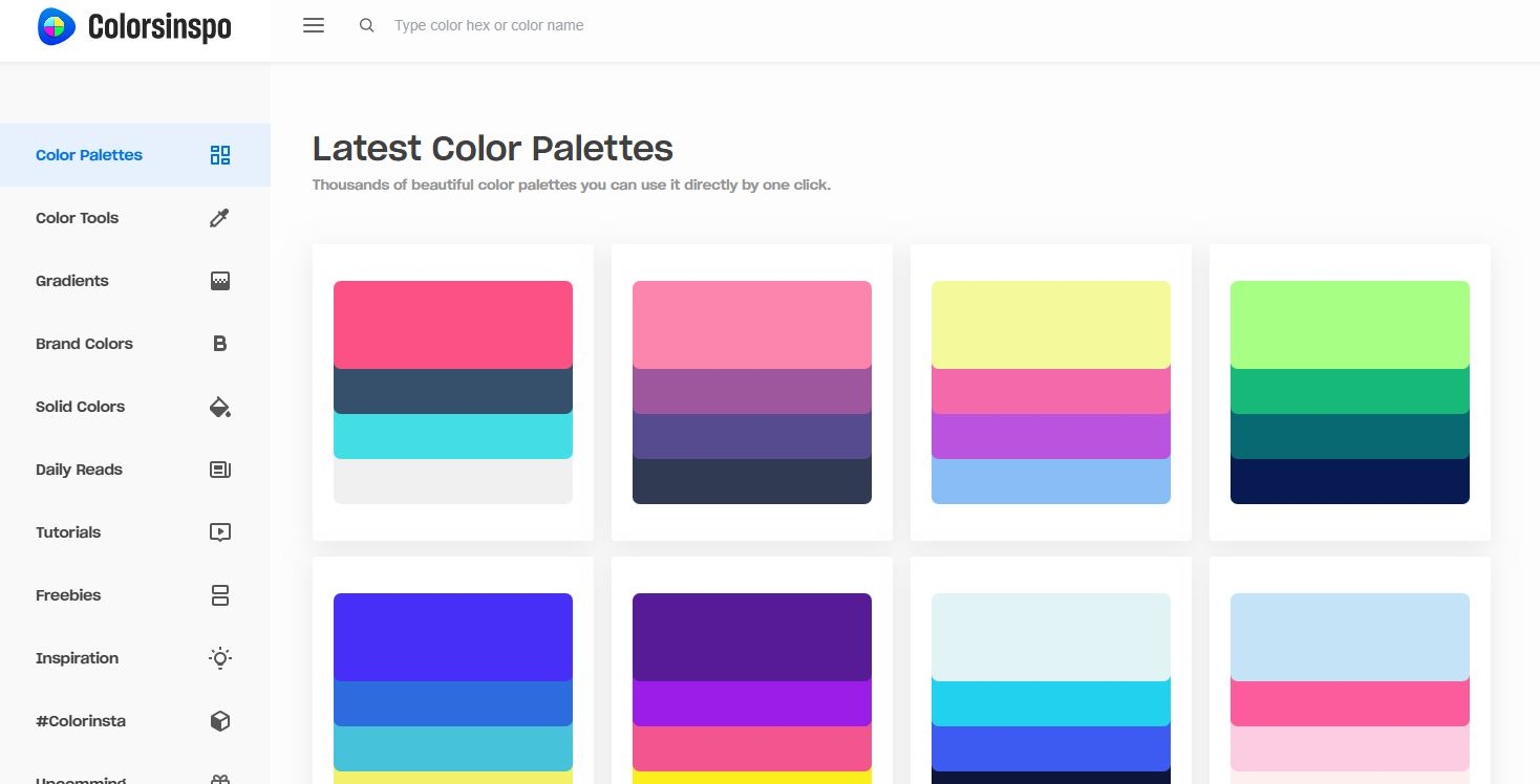 colorsinspo, un excelente recurso para quien trabaja con colores