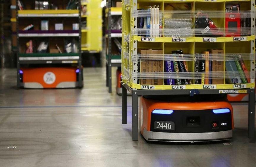 Robots de almacén de Amazon