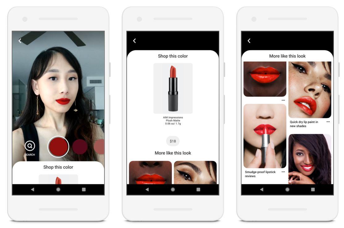 Ya podemos probarnos maquillaje en Pinterest