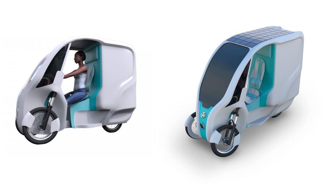 Un triciclo eléctrico con techo solar para repartir en las ciudades