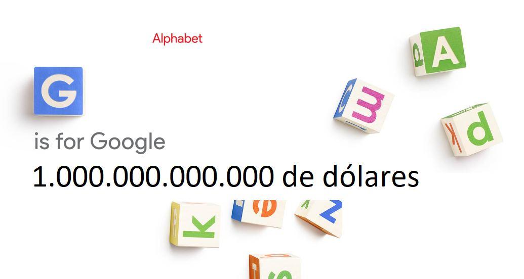 Alphabet entra en el club de empresas que valen más de 1 billón de dólares