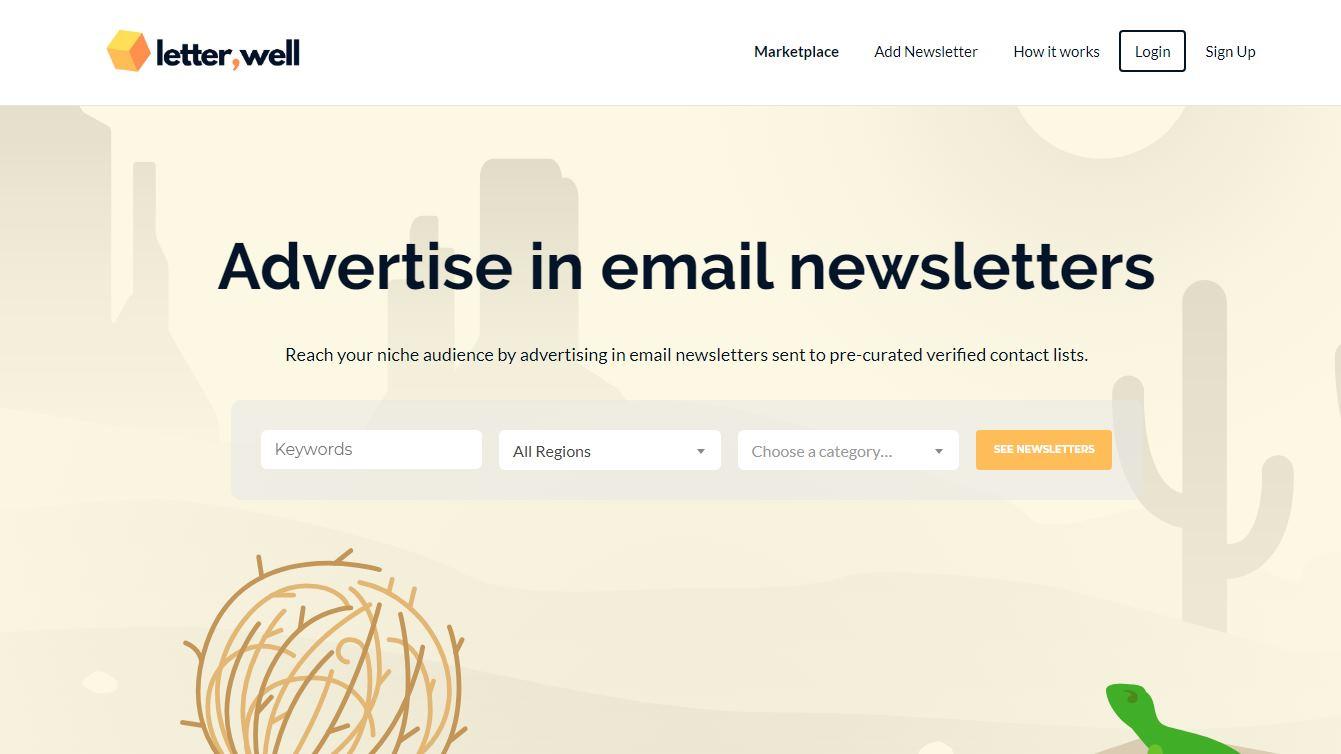 Para comprar y vender espacio publicitario en Newsletters