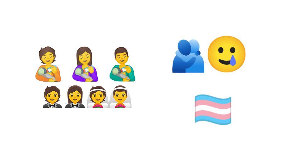 La lista de emojis propuestos por Google