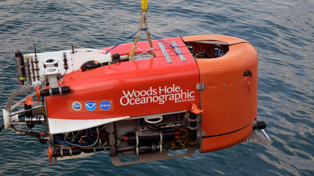 Un submarino autónomo toma muestras del fondo marino