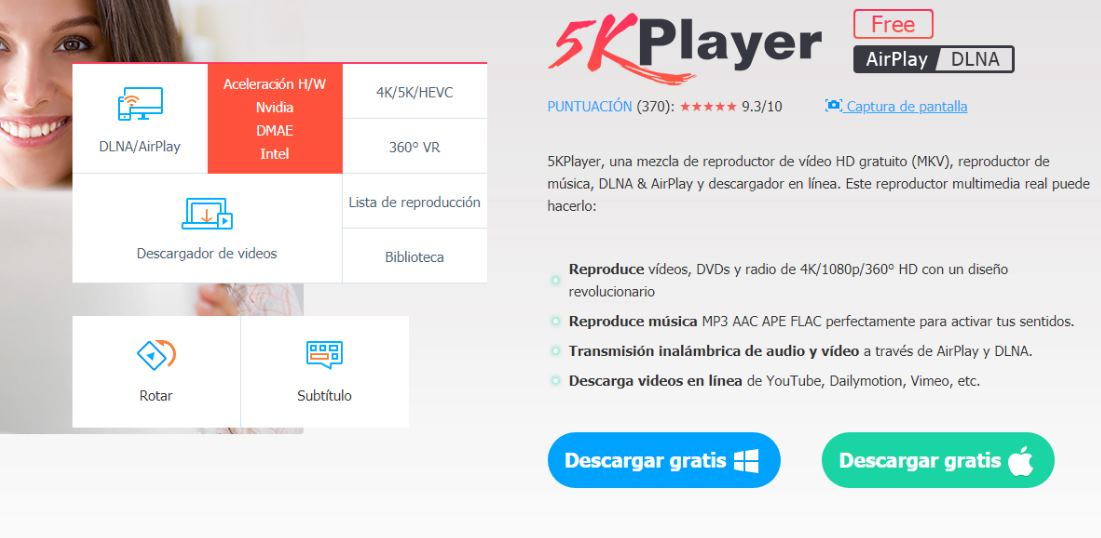 5KPlayer, un reproductor multimedia para Windows 10/Mac que tienes que conocer