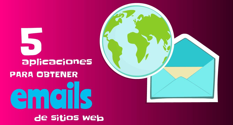 Opciones para obtener emails de las páginas web