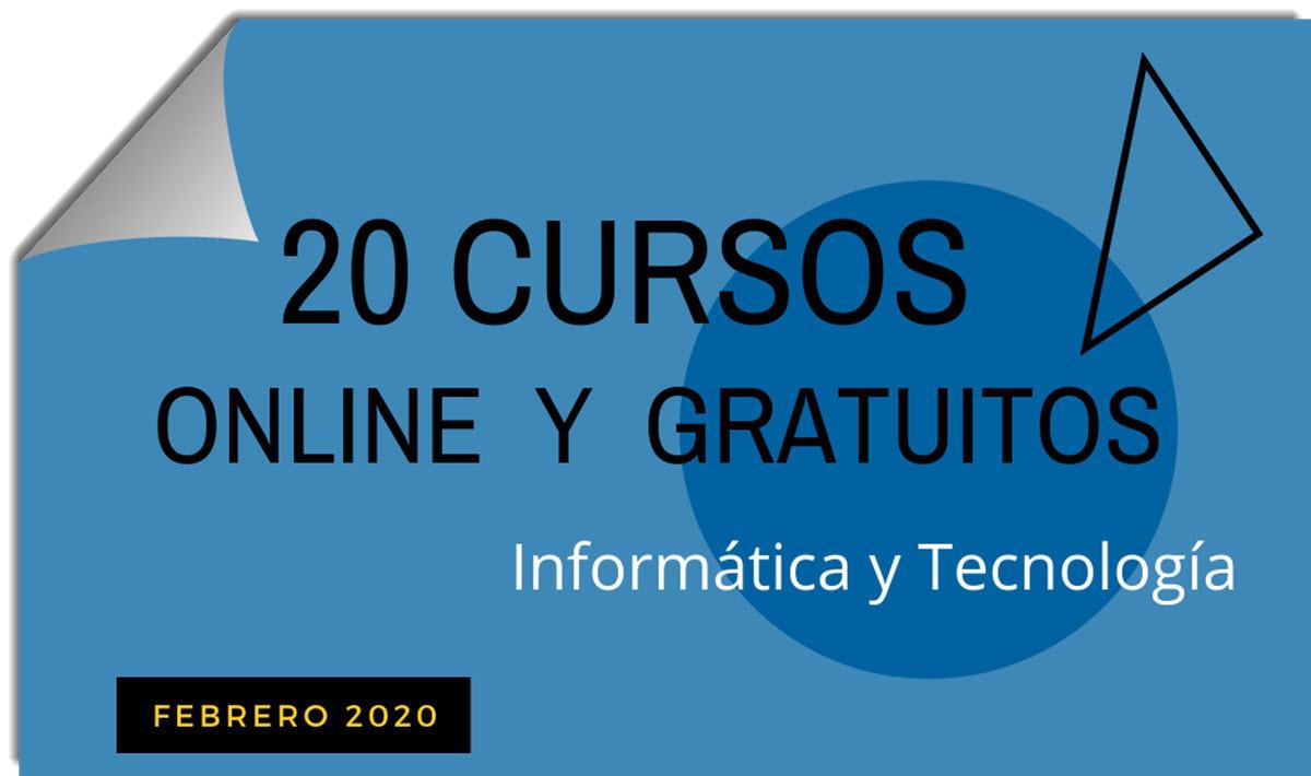 20 cursos gratuitos de tecnología para empezar en febrero