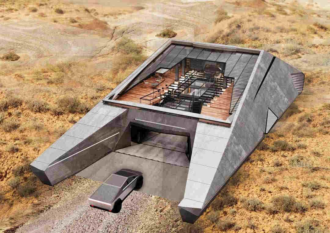 Arquitectos rusos crean casa inspirada en el Cybertruck