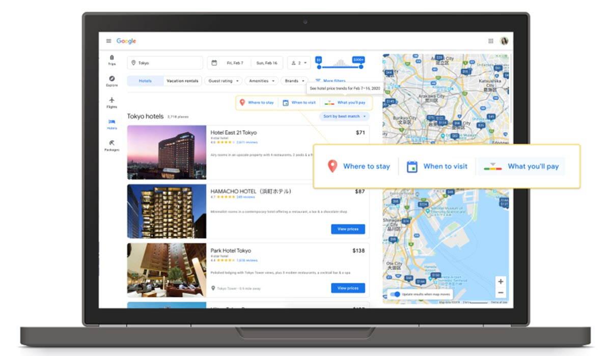 Google suma funciones para planificar un viaje que se ajuste a nuestro presupuesto