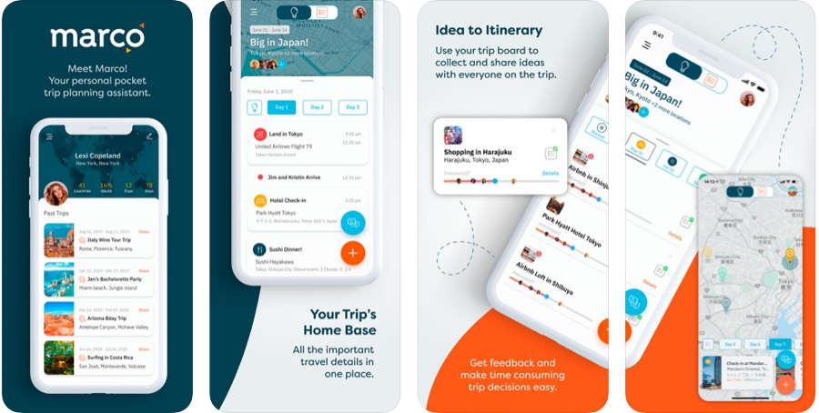 Marco, una app para organizar tus viajes grupales
