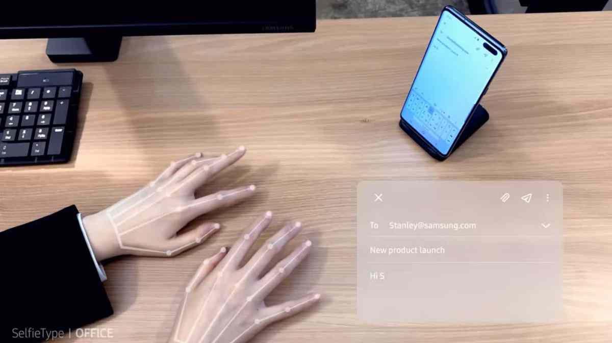 Samsung desarrolla teclado invisible usando la cámara frontal del smartphone