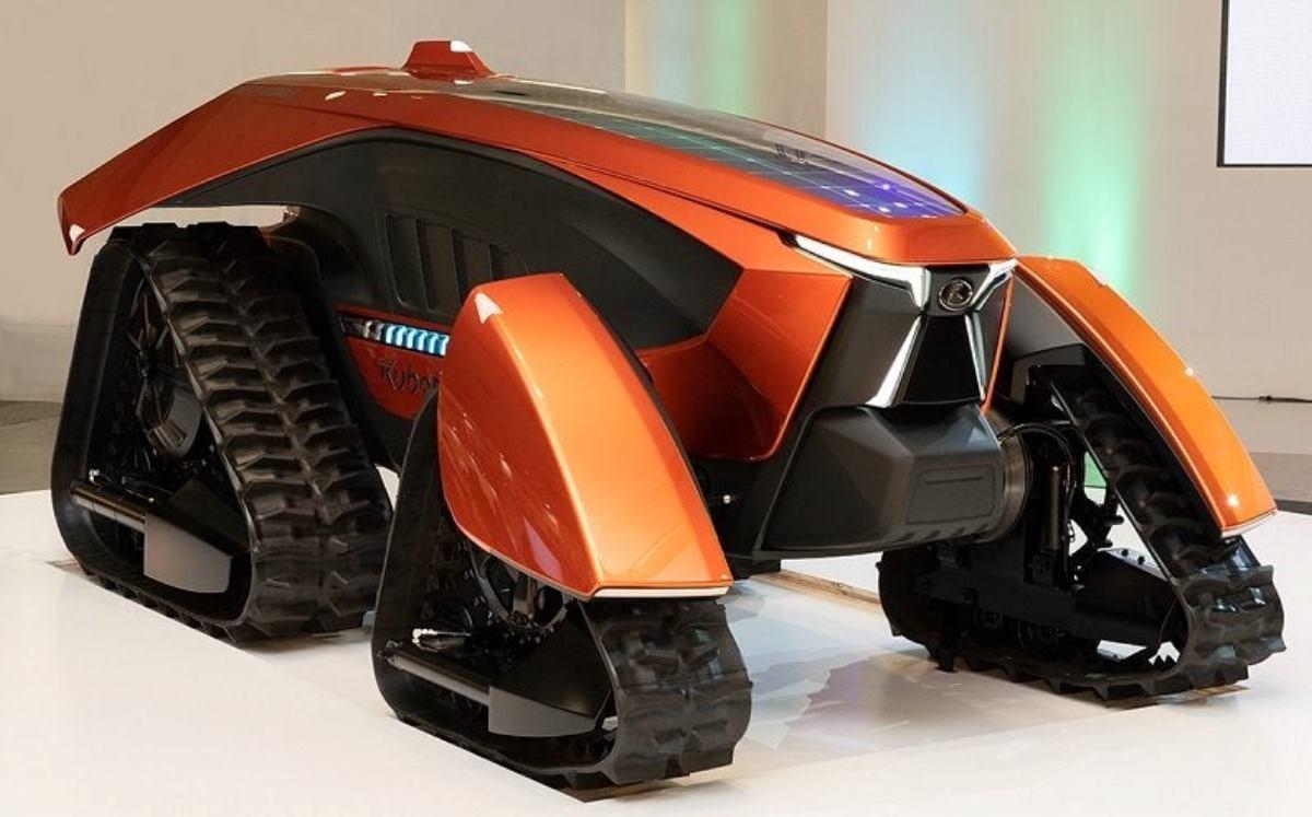 Un tractor eléctrico controlado por inteligencia artificial