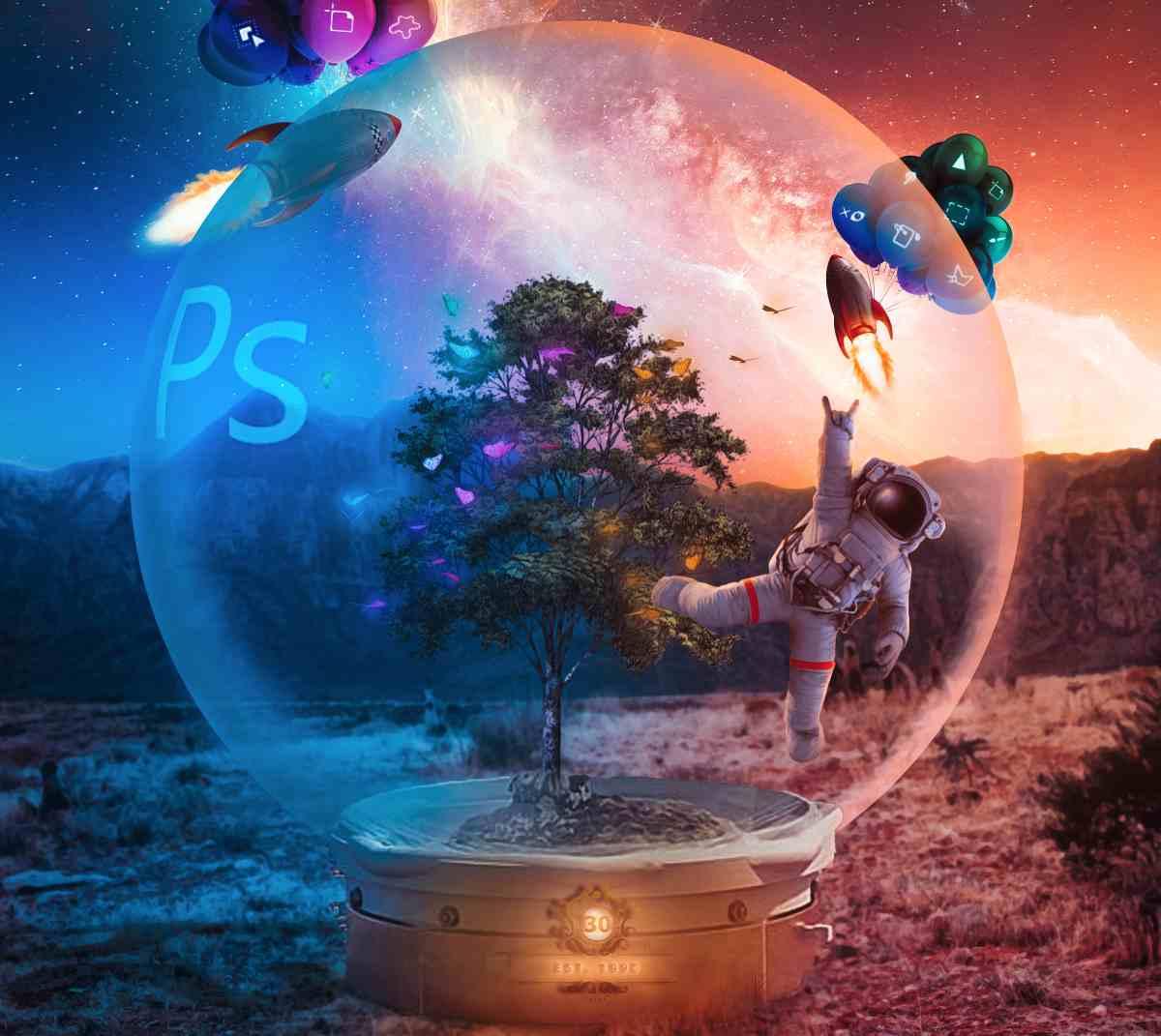 Photoshop cumple 30 años y Adobe lo celebra con novedades para el escritorio y para el iPad