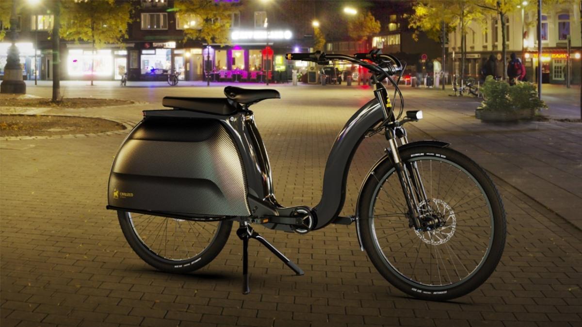 Modelo 1, una bicicleta eléctrica de lujo con un maletero impresionante