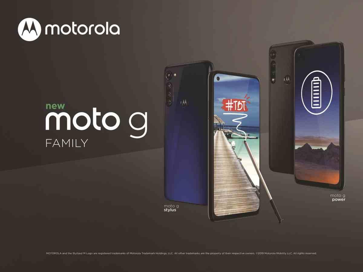 La familia Moto G crece con los nuevos Moto G Stylus y Moto G Power