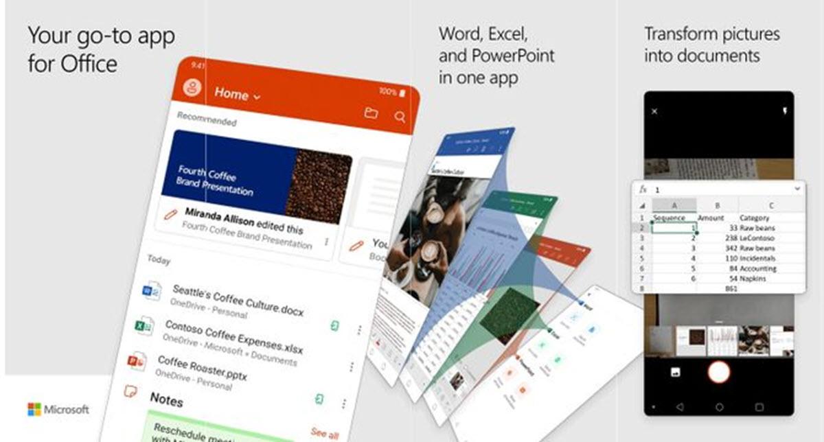 Nuevo Microsoft Office para Android: Excel, Word y PowerPoint en una sola app