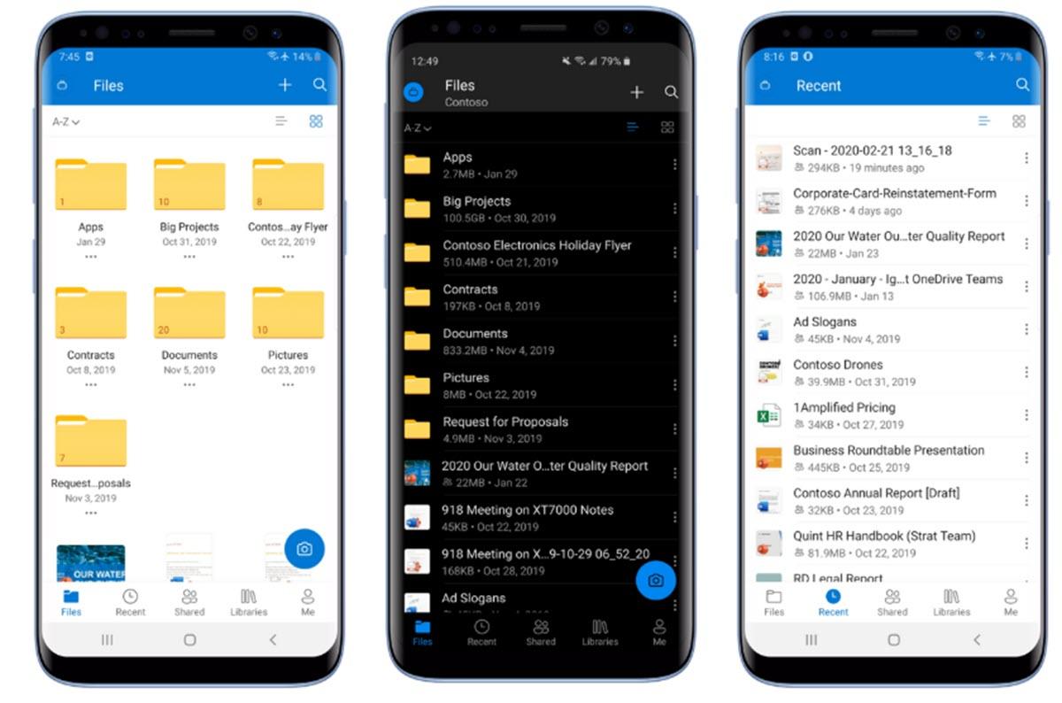 OneDrive para Android se actualiza con modo oscuro y nuevo sistema de búsqueda