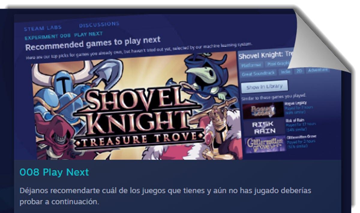 Steam ahora recomienda los juegos que ya tienes y olvidaste