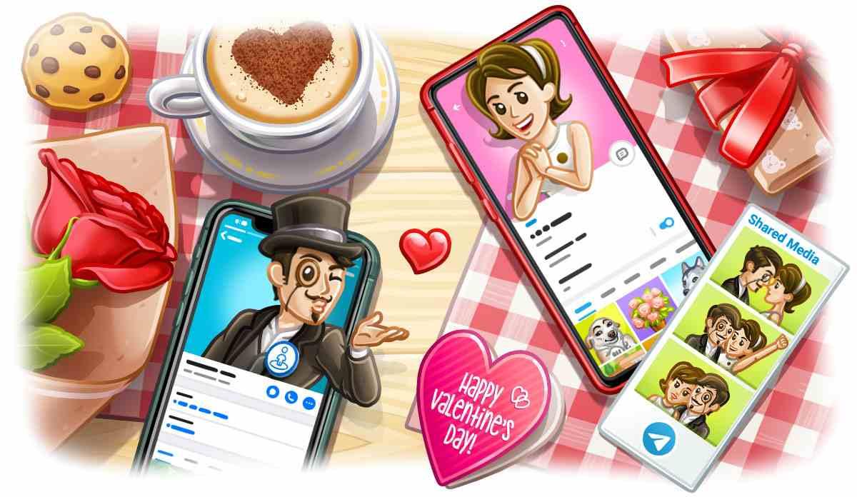 Estas son las novedades de Telegram por San Valentín