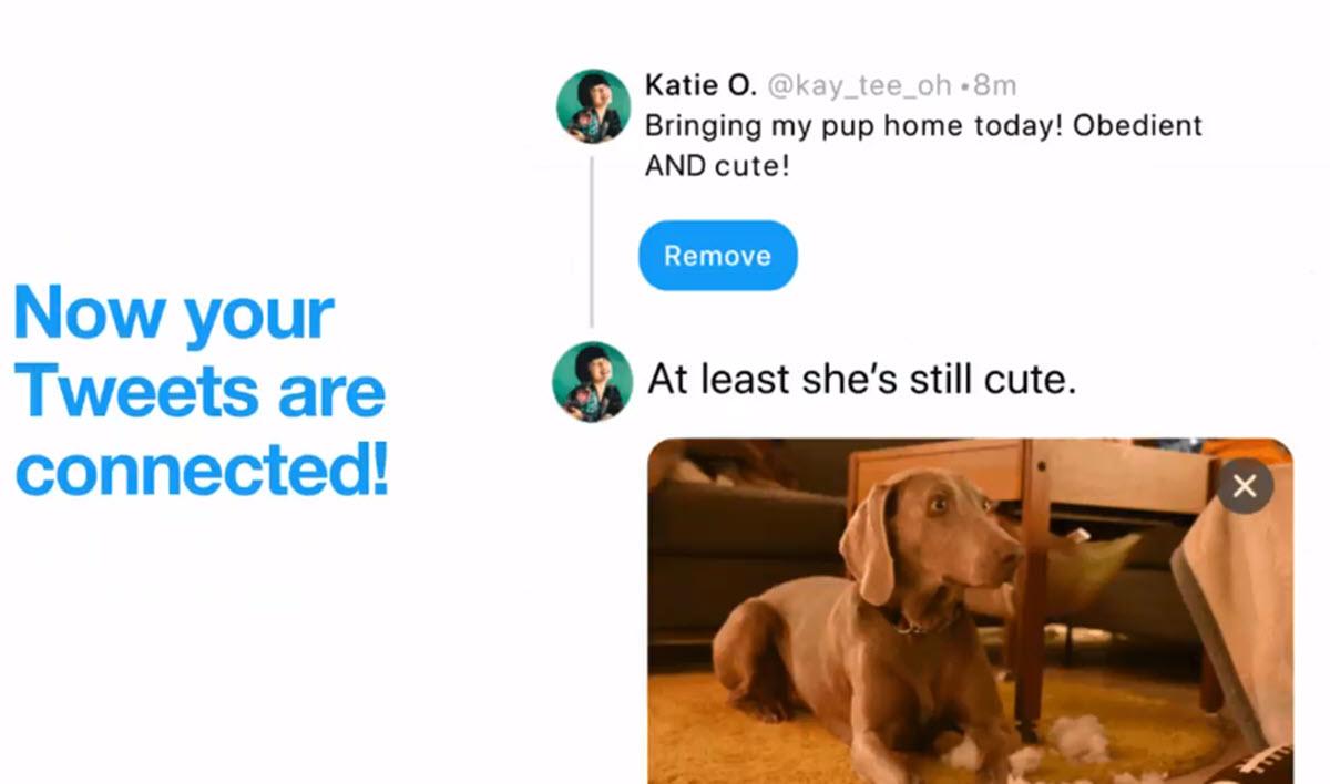 Twitter facilita conectar un nuevo tweet a una publicación antigua