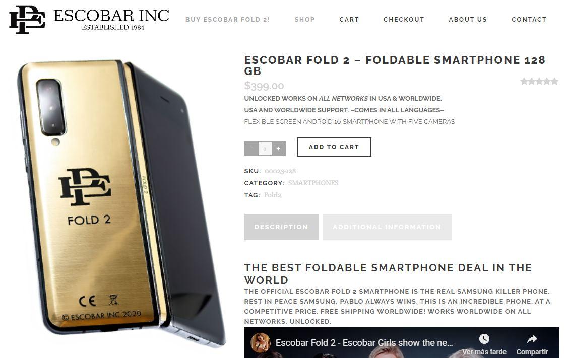 El móvil plegable de Pablo Escobar, por 400 dólares
