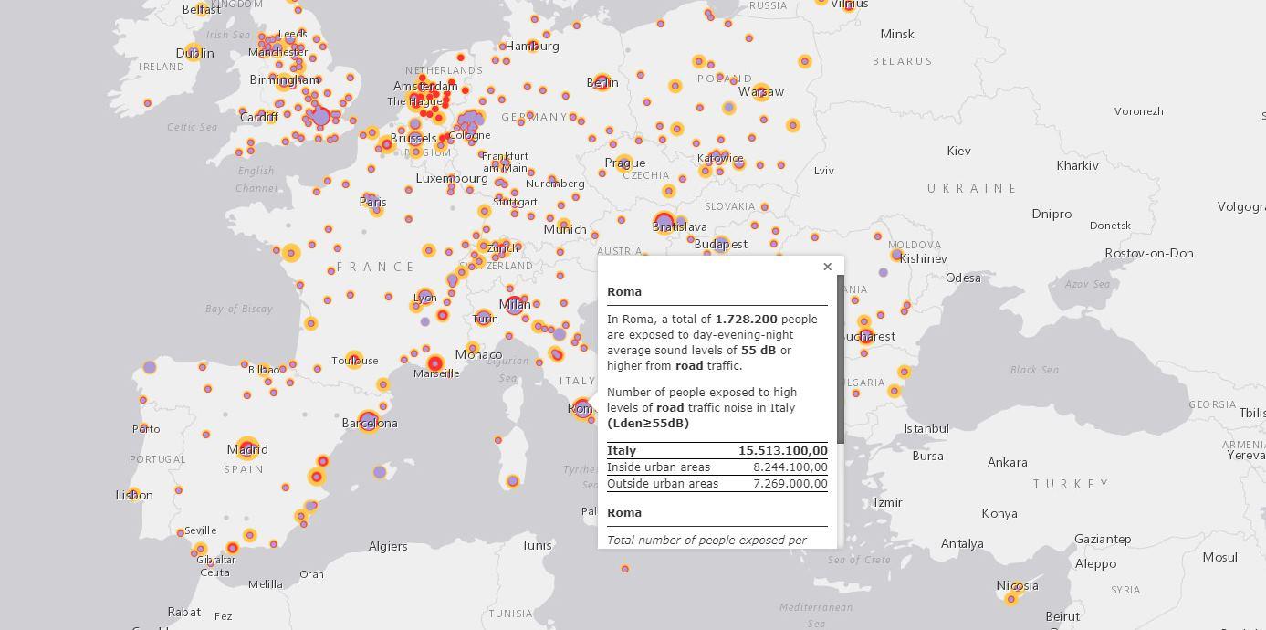contaminación acústica Europa
