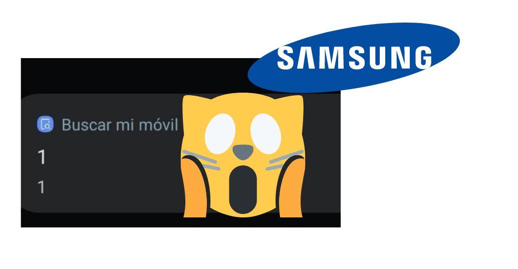 Notificación buscar mi móvil 1 1 en teléfonos Samsung ¿Qué significa?