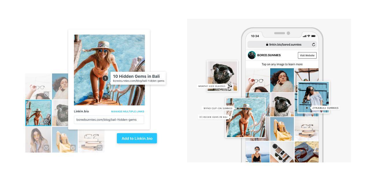 Dos buenas opciones para poner en el link de la bio de Instagram