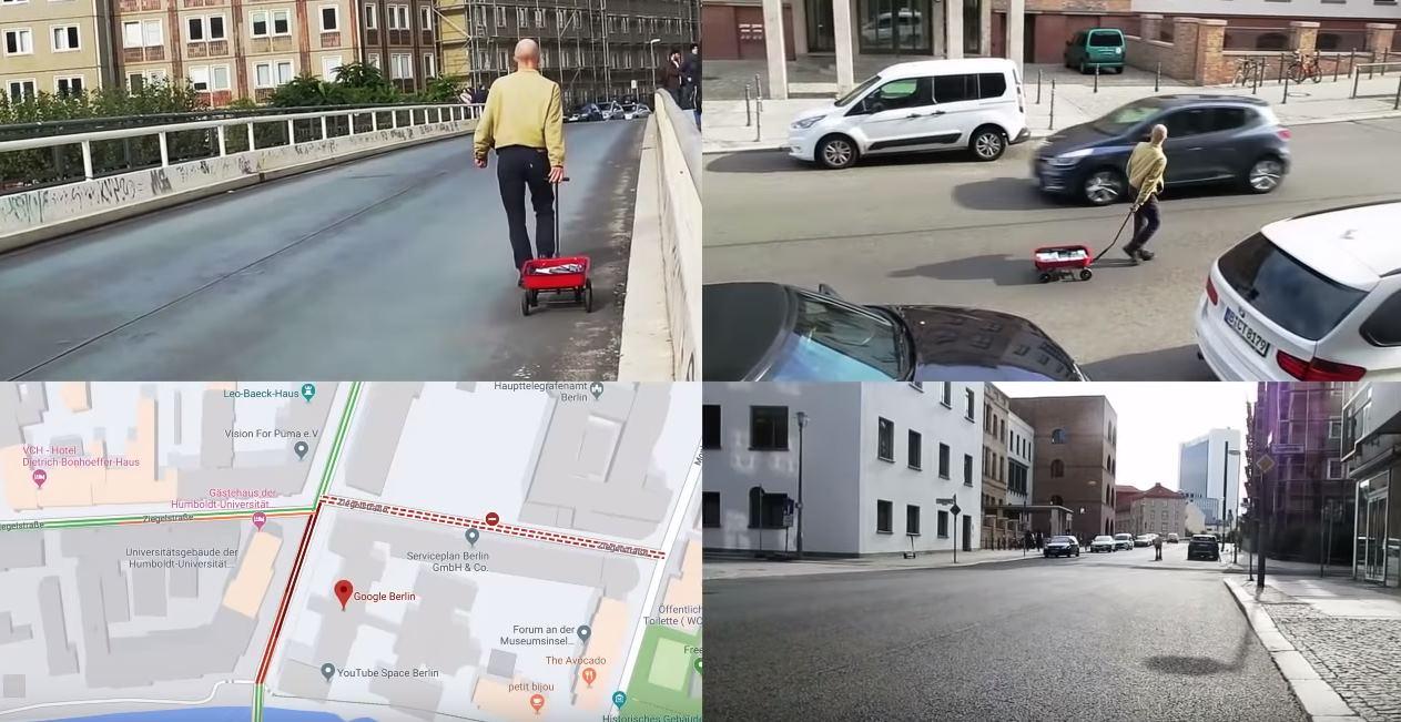 Google habla sobre el tipo que metió 99 móviles en un carrito para engañar a Google Maps
