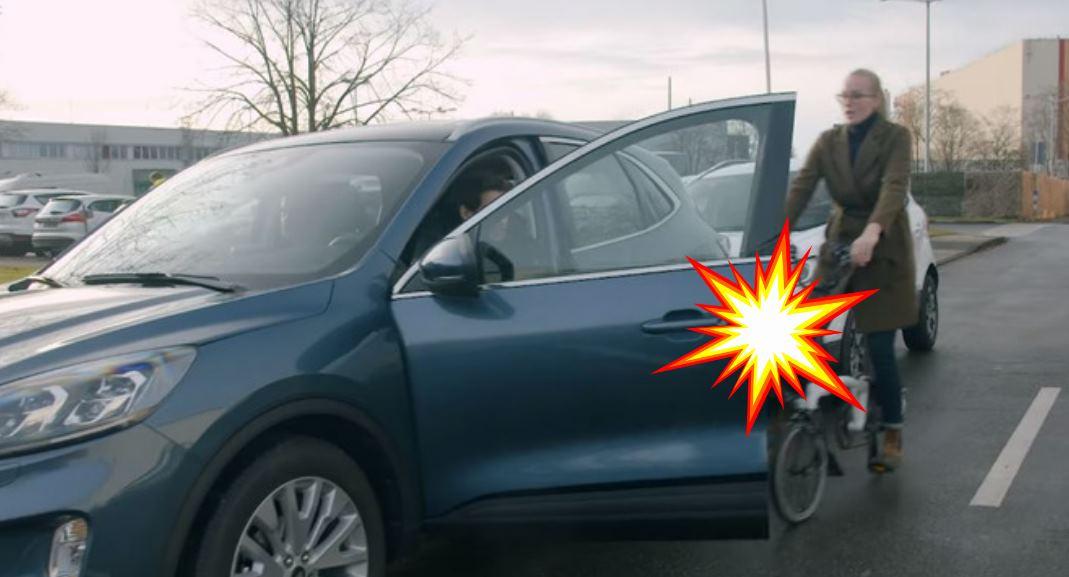 Tecnología para que las bicicletas no choquen con las puertas de los coches
