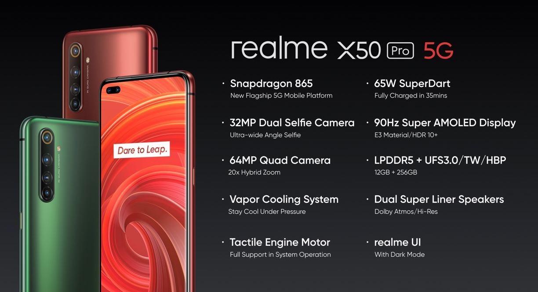 Realme X50 Pro 5G, nuevo móvil con batería al 100% en solo 35 minutos