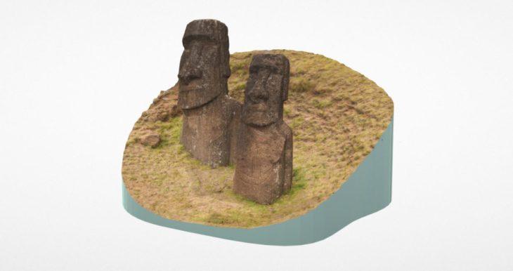 isla de pascua en 3D
