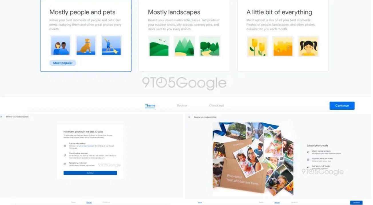 Google envía 10 fotos aleatorias de Google Fotos, en papel, por 8 dólares al mes