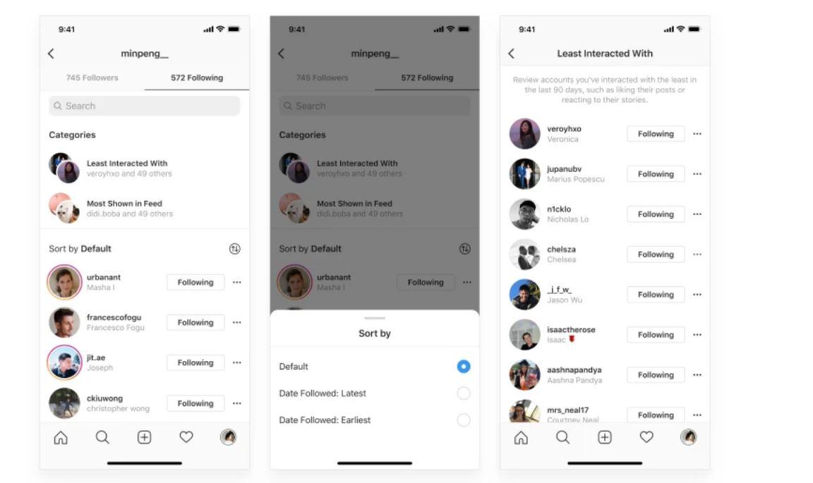 Instagram presenta «categorías de seguidores», para ayudarnos a filtrar mejor a quien seguir