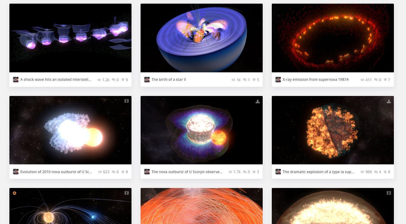 Modelos tridimensionales del espacio, disponibles online de forma gratuita
