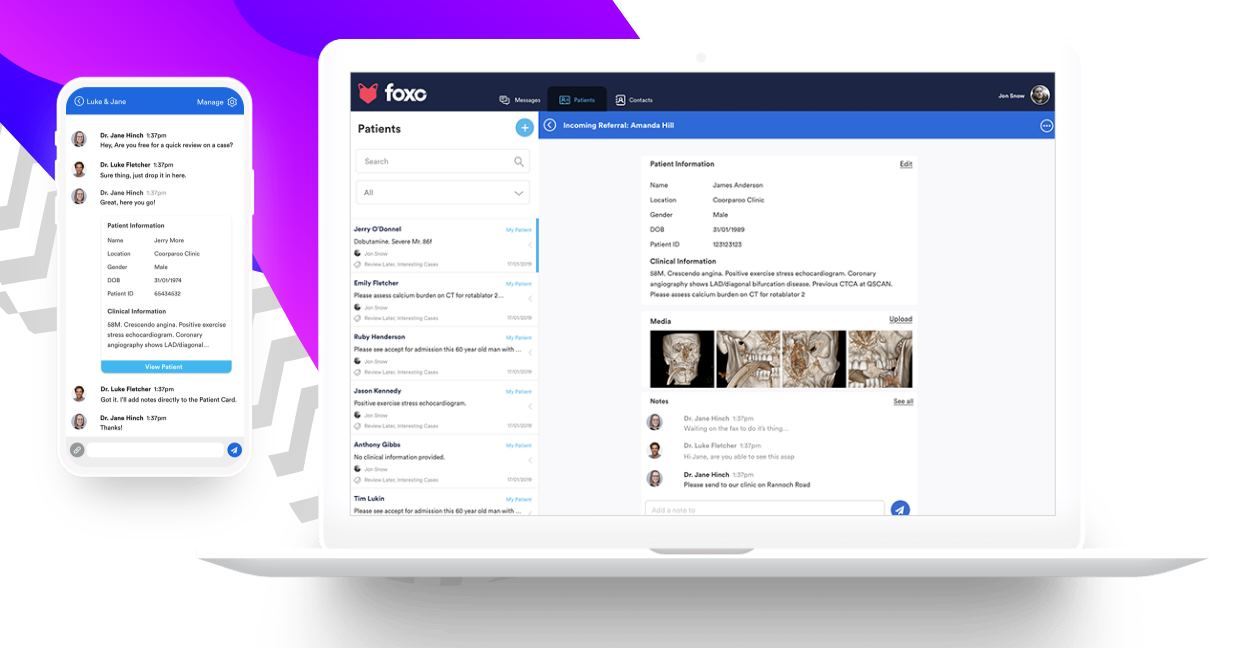 Foxo, una plataforma de comunicación para el sector de la salud