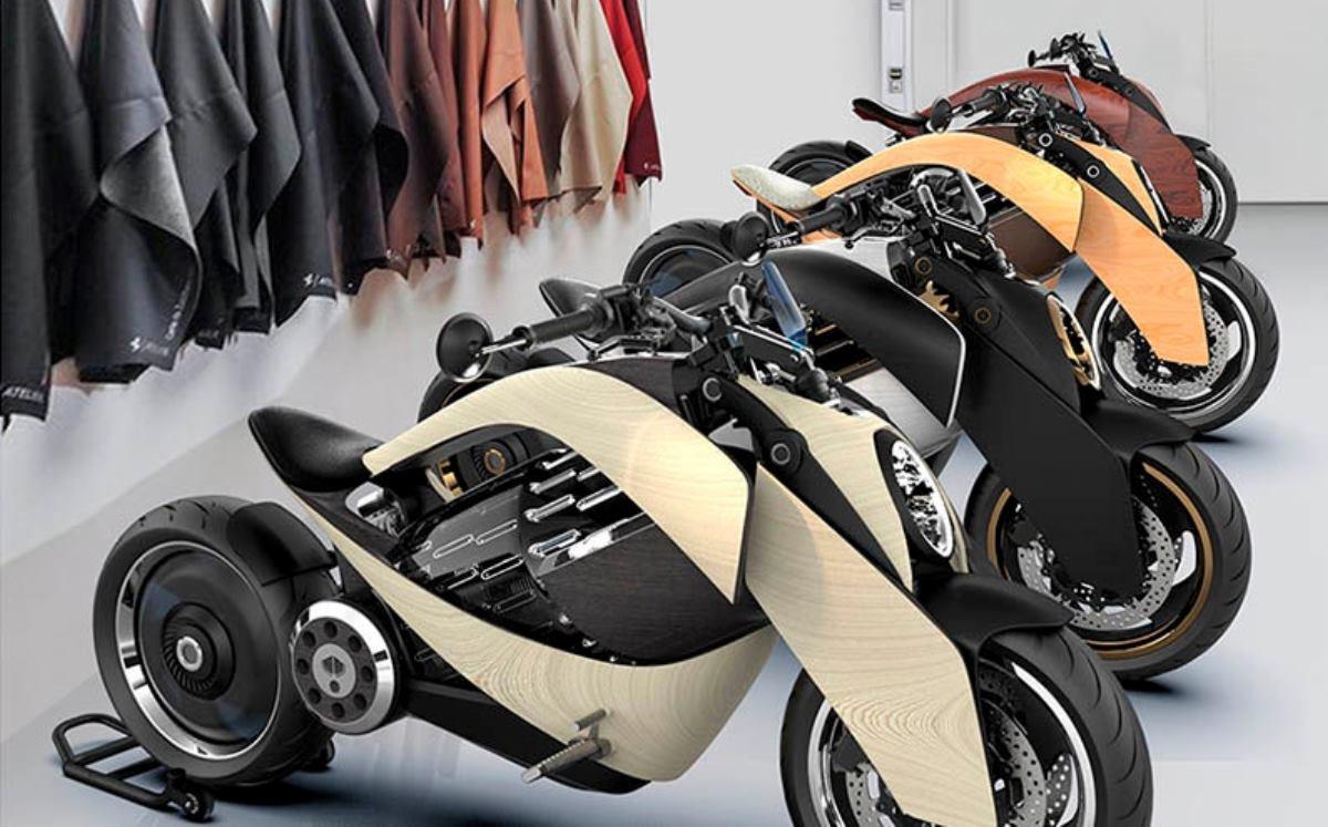Newron presenta moto eléctrica de madera de 60.000 euros