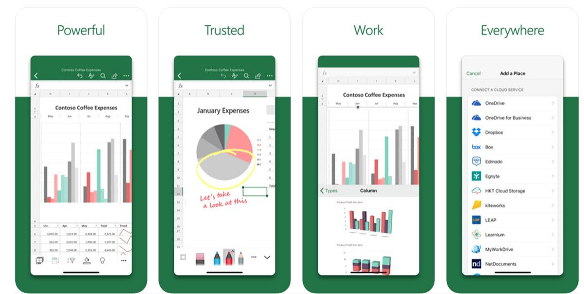Microsoft lanza apps rediseñadas de PowerPoint, Excel y Word en iOS
