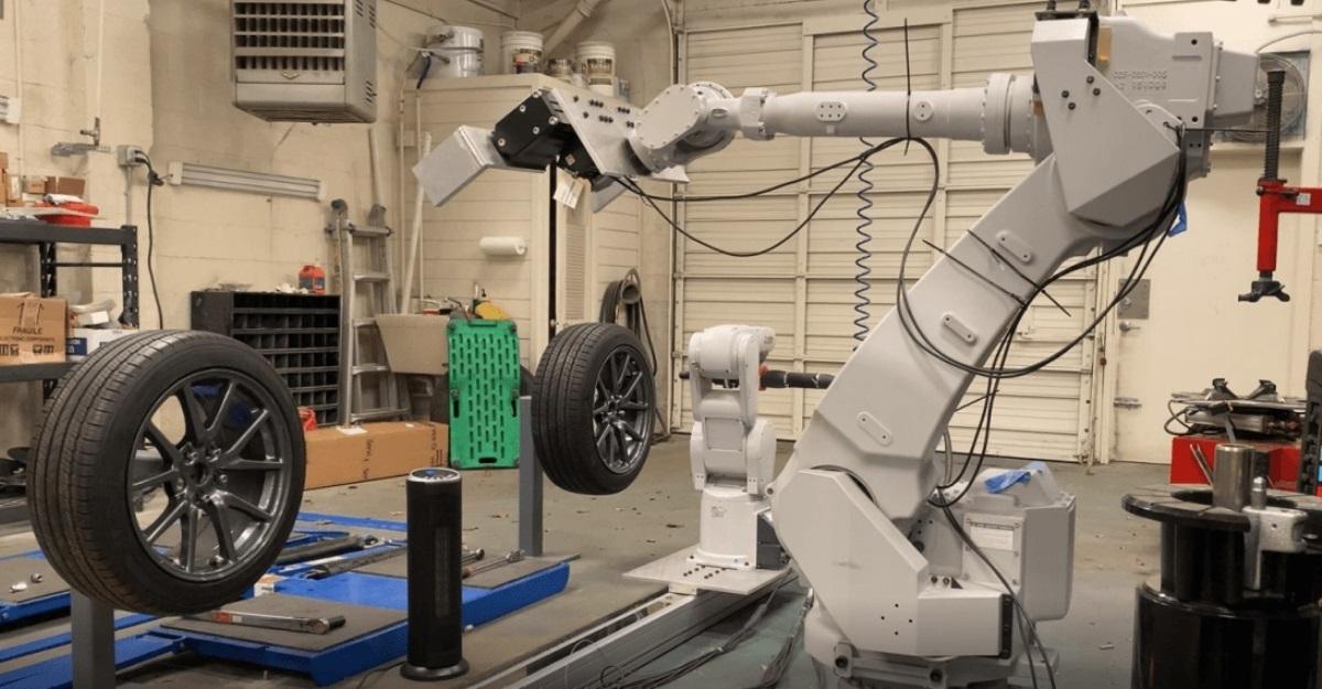 RoboTire: El robot que puede cambiar los neumáticos de un coche en 10 minutos