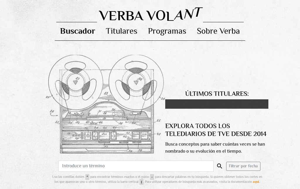 Verba, un buscador de contenido entre los telediarios de TVE